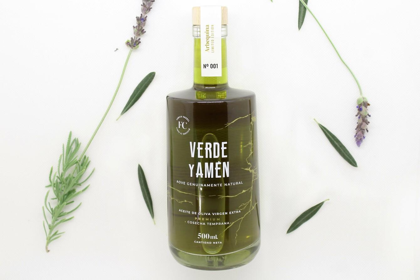 Aceite de Oliva Virgen Extra Verde y Amen Arbequina 500ml edición limitada