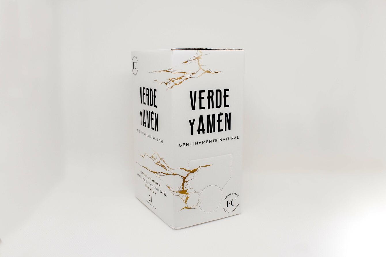 Aceite de Oliva Virgen Extra Verde y Amen Arbequina Bag in Box 2L dorsal