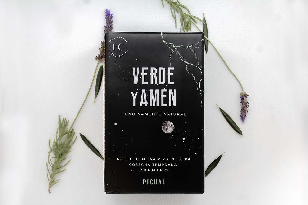 Aceite de Oliva Virgen Extra Verde y Amen Picual Bag in Box 2L