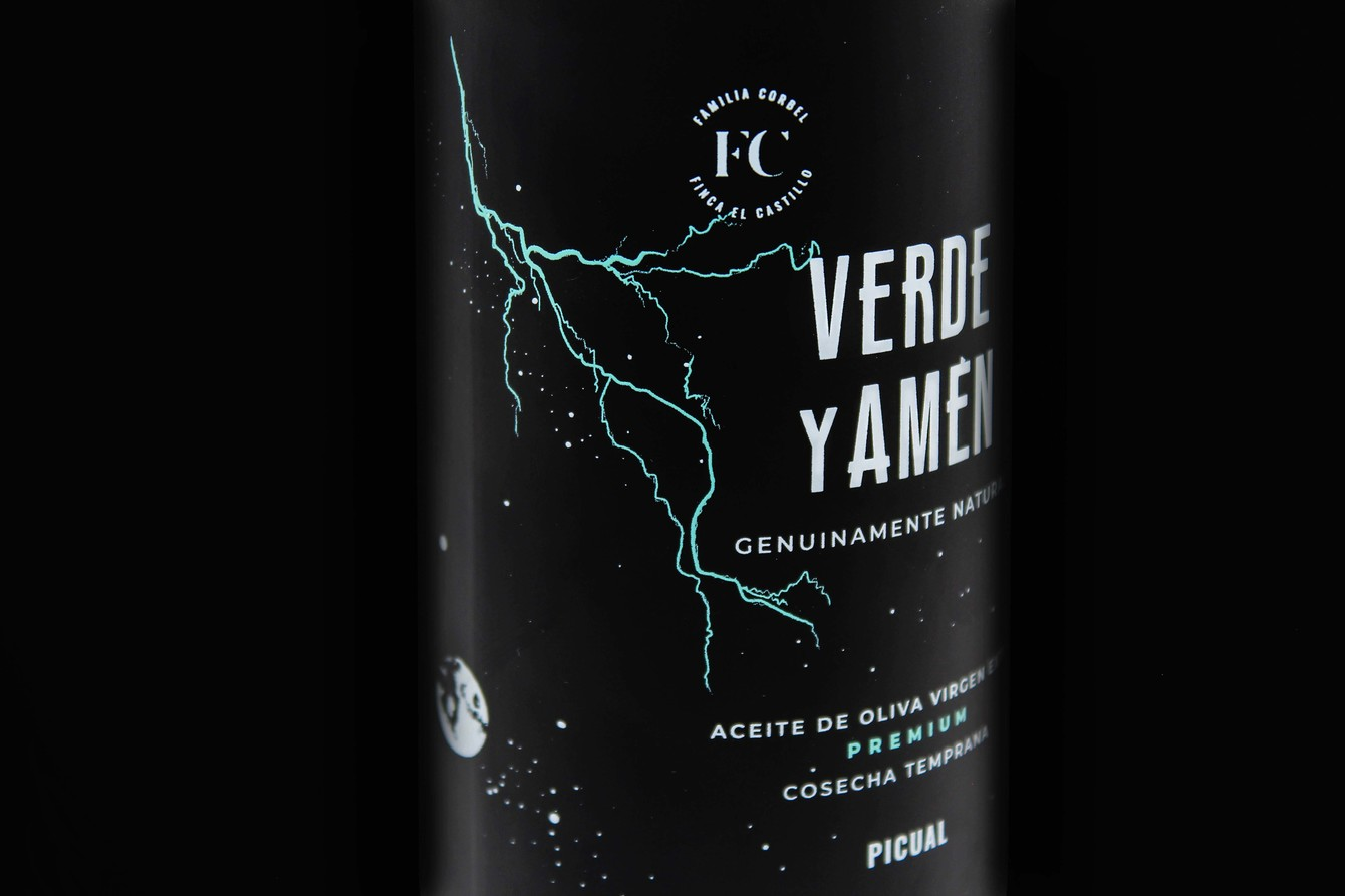 Aceite de Oliva Virgen Extra Verde y Amen Picual botella 500ml detalle