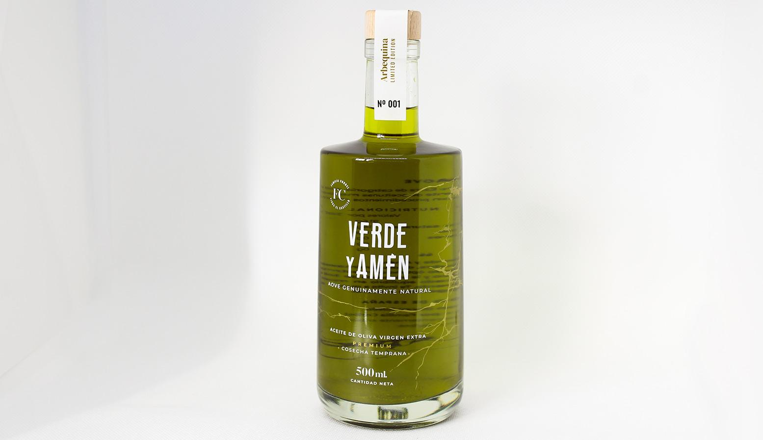 Aceite de Oliva Virgen Extra Cosecha Extra Temprana Verde y Amén Arbequina